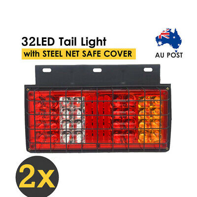 2x 8LED Tail LED Light Rear Lamps Indicator 12V Parts for Trailer Truck Utes AU