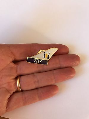 Monarch 787 lapel pin badge