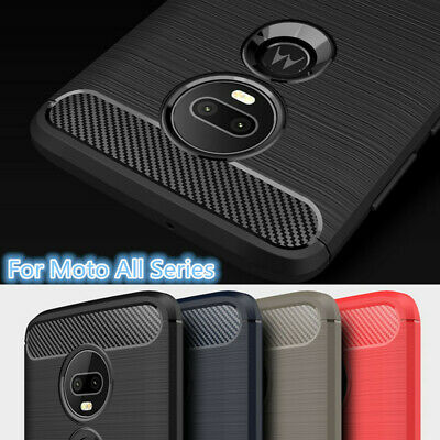 Shockproof Brushed Soft TPU Case Cover For Motorola Moto G4 Plus/Play/G3/G5/Z/E3