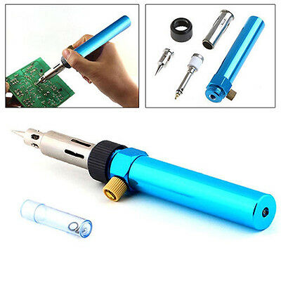 New Gas Blow Torch Soldering Solder Iron Gun Butane Cordless Welding Pen Burner