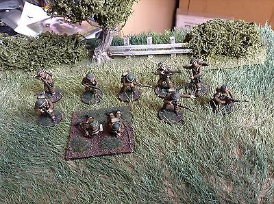 28mm British infantry Section Painted For Bolt Action