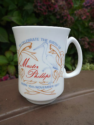 1977 Birth of Princess Anne's son Peter Phillips China Mug