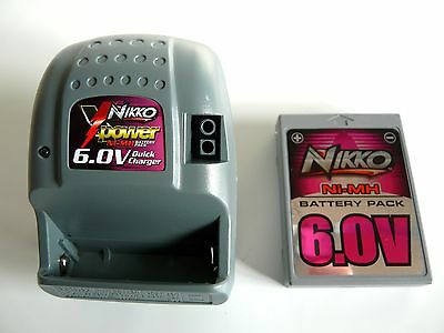 Fast Charger Quick-Charger with battery 6V NiMH 800mAh Nikko VaporizR VaporizR2