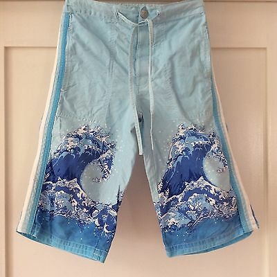 Fred Bare Boys Long Cotton Wave Print Shorts Size 6