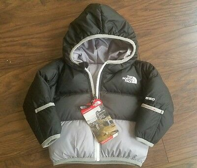 The North Face Moondoggy Infant Jacket Reversable 0-3 or 3-6 months NEW WITH TAG