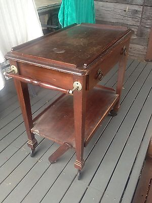 Antique Mid Century Wooden Auto Drinks Trolley