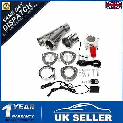 2.5''Electric Exhaust Valve Downpipe Pipe Key Remote Intelligent ECut Control UK
