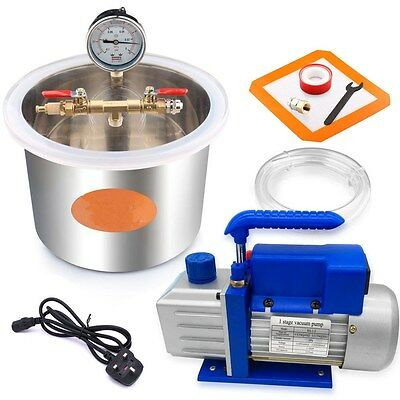 5L Stainless Steel Strong Barrel Vacuum Chamber Pump Refrigeration Air Condition