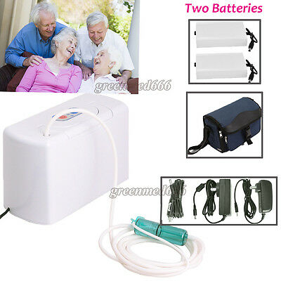 Portable Car/Travel Oxygen Air Concentrator Generator + 2 Rechargeable Batteries