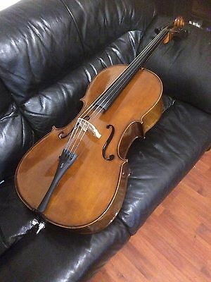 3/4 Size Student Stentor Cello With Soft Case And Bow
