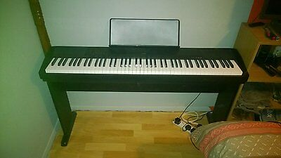 casio CDP 120 electric piano with stand and cover