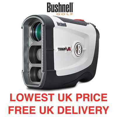 Bushnell Tour V4 Laser Range Finder - New 2016 Version - 2 Year Warranty - White