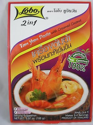 100 g. 2 in 1 , LOBO, Tom Yum Paste with Creamed Coconut