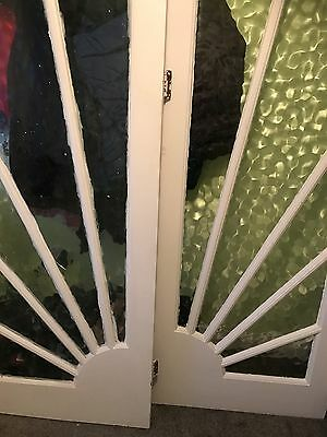 Art Deco Sunburst Glazed Panelled Doors.Doors