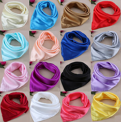 Fashion Elegant Designs Soft Silk Satin Ladies Small Square Head / Neck Scarf