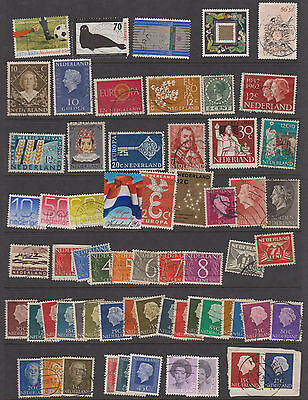 Two pages of Netherlands Holland stamps