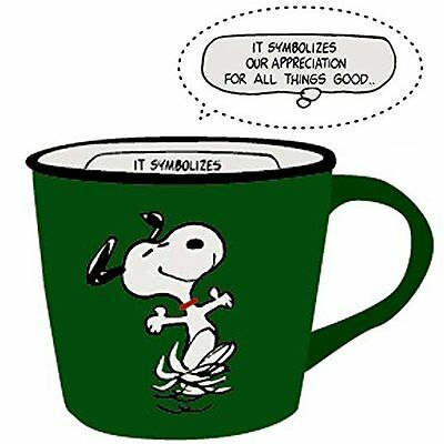 NEW Coffee Mug Green Vintage Snoopy Peanuts Tableware Kitchen Drink Cup Gift