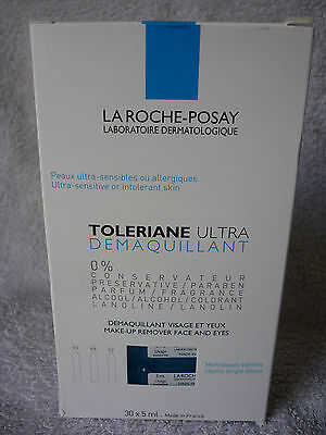 La Roche-Posay Make-Up Remover Face And Eyes. 30 Single Doses. Free Postage!