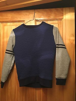 Boys Next Navy And Grey Jumper Age 10