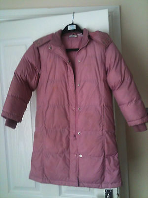 Girls pink winter coat age 9-10 years