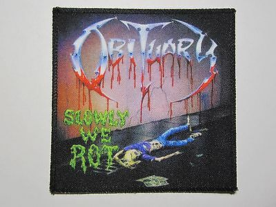 OBITUARY Slowly We Rot NEW patch death metal