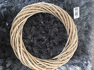 Large Rustic, Chubby Shic Wicker Christmas Wreath Willow New