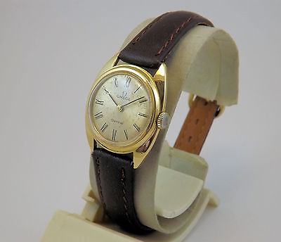 OMEGA GENEVE OROLOGIO ORO 18 Kt  EPOCA ANNI '70 AUTOMATIC GOLD VINTAGE WATCH