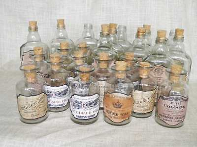 12 Vintage style bottle stickers,French adverts, Vintage French Perfume Labels