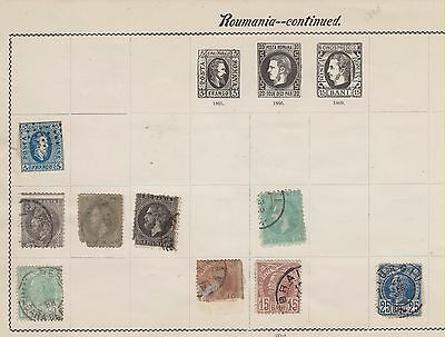 Ls173 Extremely Early Stamps From Romania On Old Album Page