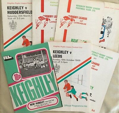 7 KEIGHLEY RLFC Home Games Programmes 1960s - 1970s.