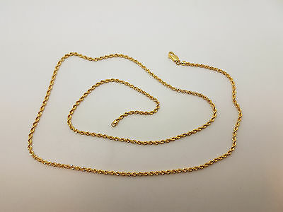"""Lovely 18ct Gold 21"""" Rope Link Chain Necklace.  Goldmine Jewellers."""