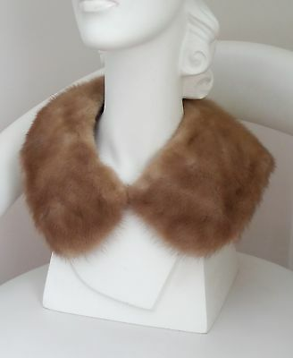 Vtg 60s MINK FUR COLLAR~~ for Coat Sweater or Dress~ Indie Rockabilly Mod Womens