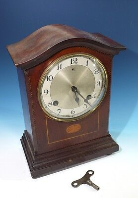Edwardian Antique Inlaid Mahogany Mantel Clock.