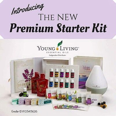 Young Living Essential Oils Premium Starter Kit With Dewdrop Diffuser