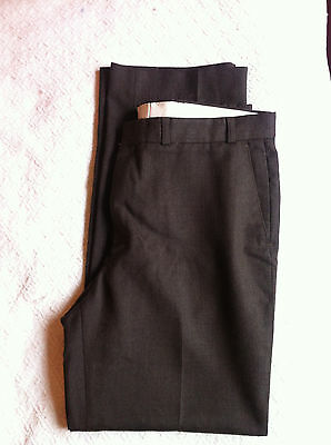 "Maitland Men's Vintage wool blend brown trousers classic formal fit 36""W 31""L"