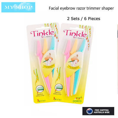 Two Sets of 6 Pieces of Tinkle Facial Eyebrow Razor Trimmer Blade Hair Remover