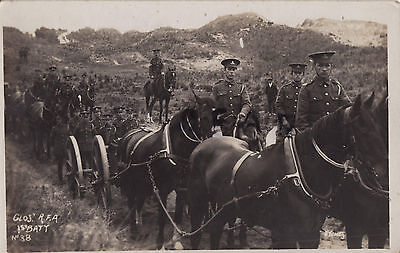 Soldier Horses Limbers 1st Battery Gloucestershire Royal Field Artillery Berrow