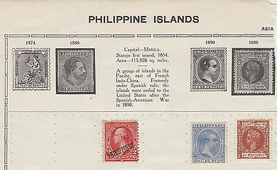 Ls177  Early Stamps From The Philippine Islands On Old Album Page