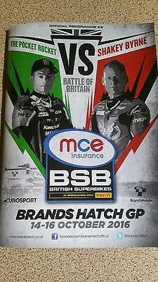 Superbikes The Final Round BSB Brands Hatch Programme October 2016