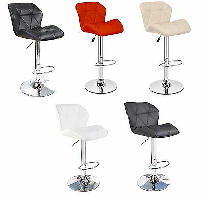2 X Modern Padded Swivel PU Leather Breakfast Kitchen Bar Stools Pub Barstool