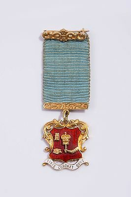 Antique Vintage 18ct Yellow Gold & Enamel Educational Medal – Chester 1937