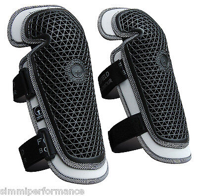FORCEFIELD STRAP ON KNEE PROTECTORS RRP £65 MX Off Road Enduro Bike Armour Guard
