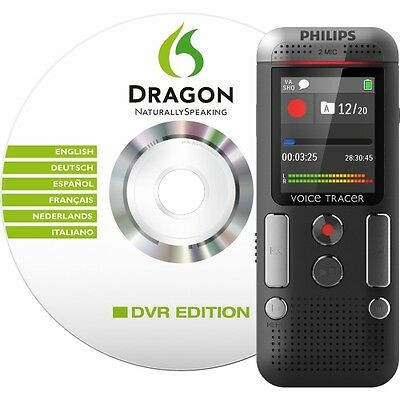 NEW Philips DVT2700 Digital Recorder with Speech Recognition Software and 2Mic