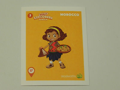 Woolworths World Explorers Sticker #5 Morocco