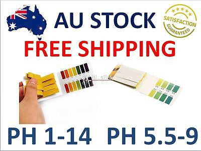 pH Strips Paper Test Litmus Tester Universal 1-14 or Accurate range 5.5-9.0 AU