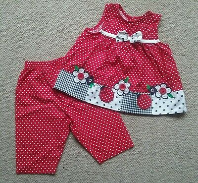 Girls cotton outfit 24 months