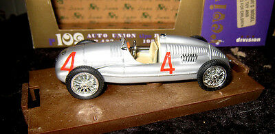 'Auto Union tipo D', 1938.  1:43 Scale Diecast Model By 'Brumm'.  Mint In Box.