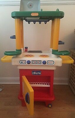 Children's Kids Chicco Role Play Kitchen Toy  with Lights, Compact, Space Saving