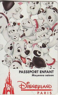 Euro Disney - Entrance Cards/passeport 1994 - 101 Dalmations - Used