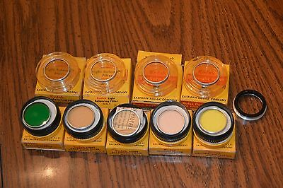 Lot of 10 Kodak Series V 5 Wratten Filters, Adapter